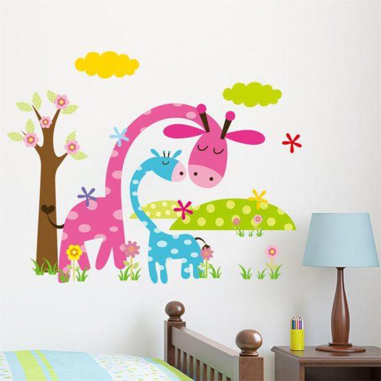 muursticker giraf-1