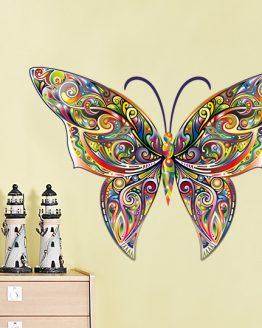 muursticker-vlinder-met-kleuren