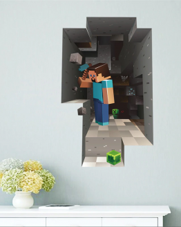 Muursticker Minecraft