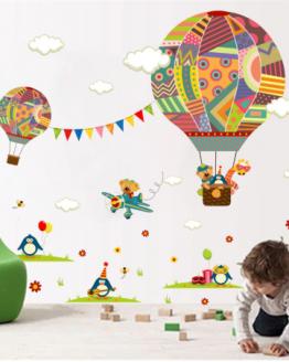 muursticker luchtballon